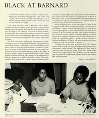 Black at Barnard exhibit thumbnail, Barnard yearbook image
